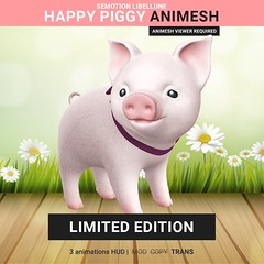 SEmotion Libellune Happy Piggy Animesh Limited (Marie Sims) Tags: ao animations animation avatar anim animaitons animaions animated aohud animarions animesh event 3d expression emotion expressions emoji access hq release rigged trendy trend toy tiny yummy unisex hud fun funny inworld icing gift girly girl libellune giveaway kawaii love bento