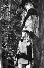 My Bride  1972 (CameraOne) Tags: 1972 wife bride mountains blackandwhite monochrome film kodak plusx 35mm yashicatlelectrox yashinon50mm18 female woman portrait outdoors trees nature mtcharleston nevada epsonv600scanner