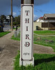Formalising Things (mikecogh) Tags: stobiepole telegraphpole painted sign formal font albertpark
