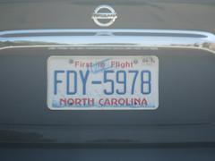 north carolina (timp37) Tags: north carolina license plate first flight