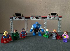 Supergirl, Green Lantern, Superman, Darkseid, Lex Luthor, Count Vertigo and Toyman (bricksfreaks) Tags: lego dc comics dccomics custom minifigures bricks freaks justiceleague legionofdoom superman supergirl darkseid greenlantern lexluthor countvertigo toyman gotham metropolis superheroes supervillains bricksfreaks