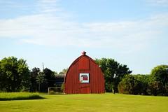 Brodhead, Wisconsin Barn (Cragin Spring) Tags: wisconsin wi midwest unitedstates usa unitedstatesofamerica smalltown rural brodhead brodheadwi brodheadwisconsin barn farm red field redbarn