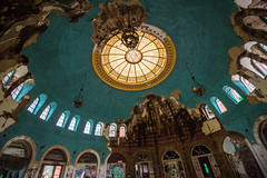 The Dome (Explored) (rantropolis) Tags: abandoned hospital tuberculosis memorial dome stained glass blue golden jnadam new york urbex urbanexploration nikon d750 15mm