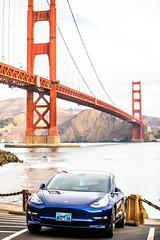 Model 3 (Thomas Hawk) Tags: america bayarea bluestar california fortpoint goldengatebridge model3 sf sfbayarea sanfrancisco tesla teslamodel3 usa unitedstates unitedstatesofamerica westcoast auto automobile bridge car electriccar fav10 fav25 fav50