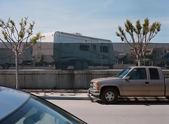 Alviso, California (bior) Tags: alviso sanjose california pentax645nii pentax645 6x45cm portra kodakportra mediumformat 120 portra400nc truck recreationalvehicle fence street