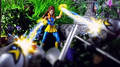 Taking care of the HORDE (custombase) Tags: mastersoftheuniverse classics shera princessofpower figures castaspella lookee greatrebellion thehorde hordetroopers etheria woods diorama toyphotography