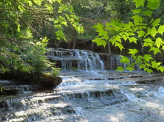 AuTrain Falls (yooperann) Tags: waterfall upper peninsula michigan summer leaves sunshine
