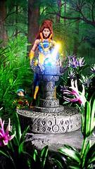 Magical orb (custombase) Tags: shera princessofpower mastersoftheuniverse figures castaspella lookee etheria woods diorama toyphotography greatrebellion magic classics