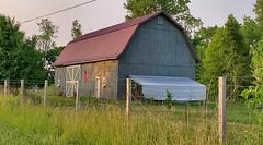 Golden Hour Barn (Larry the Biker) Tags: barn farm farming ag agriculture rural ruralamerica summer country july raytownship michigan