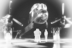 Ghosts of missions past (posterboy2007) Tags: lancaster ghost crew monochrome night bomber wwii avrolancaster