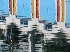 Boatshed reflection (M.Drain) Tags: canonsx70 wellington boatsheds reflection superzoom