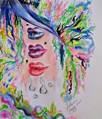 Surreal Abstract - By Silviane Moon (Silviane Moon) Tags: lápisdecor surrealart abstractpainting surrealistic surreal drawing ilustração illustration silvianemoon silvianemoonart