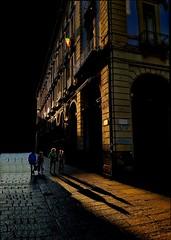 Streak of Light in the Evening Sun (paaddor) Tags: city cityscape cityphotography sunset strikinglight italy torino turin shadow