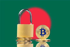 Golden Bitcoin, padlock and flag of Bangladesh (wuestenigel) Tags: padlock market flag cryptocurrency cyber gold value virtual bitcoin bank bangladesh finance coin money btc technology system currency blockchain crypto digital business international cash noperson keineperson security sicherheit safety financialsecurity finanziellesicherheit graphicdesign grafikdesign vorhängeschloss access zugriff conceptual konzeptionelle secrecy geheimhaltung lock sperren safe sicher achievement leistung protection schutz tradeprotection handelschutz retro geschäft brass messing isolated isoliert wealth reichtum glazed glasiert