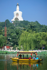 Beihai park (petr.petrov) Tags: palace place worship old town sightseeing pagoda unesco historical temple architecture travel city tourism landmark history religion culture asia historic ancient heritage china beijing lake boat