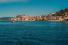 Island settlement... (Dafydd Penguin) Tags: town coast coastal sea water waterside island urban poros saronic gulf aegean greece mediterranean sailing sail sailboat yacht yachting blue leica m10 summicron 50mm f2