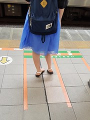 Please stand behind the yellow line (blondinrikard) Tags:
