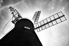 Holgate Windmill. (Darren Speak) Tags: sunshine wall sails bw york holgatewindmill