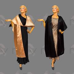 Reversible 1950s Satin Stole Wrap (Rickenbackerglory.) Tags: vintage 1950s siegel mannequin reversible satin stole wrap