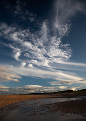 Black Dog  (Explored #046) (PeskyMesky) Tags: aberdeen blackdog blackdogbeach landscape sky cloud blue scotland sea beach canon canon5d eos
