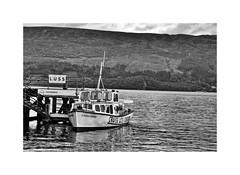 Boat trip ! (CJS*64) Tags: scotland blackwhite bw blackandwhite whiteblack whiteandblack mono monochrome luss lochlomond nikon nikond7000 nikkor