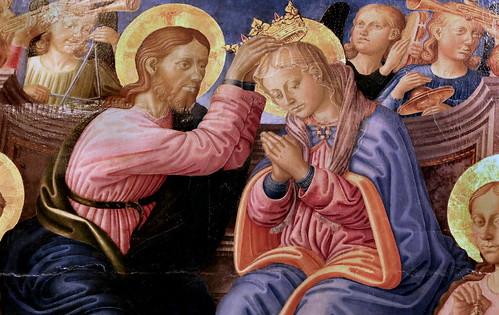 IMG_1201FA Zanobi di Machiavelli. 1418-1479  Florence et Pise Le Couronnement de la Vierge The Coronation of the Virgin Dijon Musée des Beaux Arts