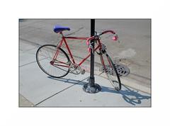 red bike (anthonyaicardi) Tags: bike red street xp1 city chicago meike1825mm meike xpro1 fuji