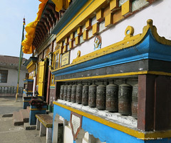 Prayer Wheels - Yiga Choeling Monastery - Ghoom Darjeeling West Bengal India (WanderingPJB) Tags: accumulation flickruploaded india westbengal monastery ghoom buddhism yigachoelingmonastery darjeeling prayerwheels