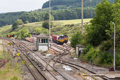 66176 66207 Peak Forest 13072019 (TheSilkmoth) Tags: peakforest derbyshirerailways doveholes peakdale 66176 66207 class66 shed yingying generalmotors gm ews englishwelshscottish englishwelshandscottish db dbs dbschenker