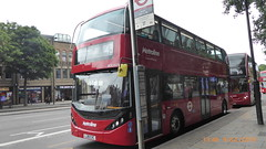 P1170017 BDE2629 LJ19 CVC at Angel Station Upper Street Islington London (LJ61 GXN (was LK60 HPJ)) Tags: metroline byd enviro400evcity enviro400city e400ev city electric 109m 10900mm bde2629 lj19cvc j4284