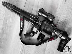 The G9 - a gun that does not kill (ChristophK82) Tags: equipment fotoausrüstung lumixg9 assaultrifle rifle gewehr gun m43 mft lenses coloraccent weapon kreativ ausrüstung farbakzent gear bw blackandwhite photogear