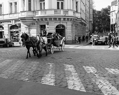 Carriage (angrykarl) Tags: 50mm canon canoneos ef50mmf18stm prague praha street streetphoto canoneosr canonr streetphotography bnw blackandwhite