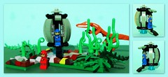Lego .Time Machine . (peter-ray) Tags: micro lego figure space ship time machine moc brick peter ray samsung nx2000 jurassic