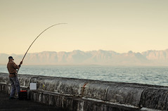 man fishing (Reaz Ahtai) Tags: travel cape town capetown fishing nature places people landscape