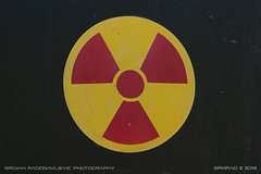 Radiation (srkirad) Tags: sign symbol radiation airplane aircraft radome radar mig mig23 szolnok hungary reptar aviationmuseum museum aviation jet hungarian russian closeup