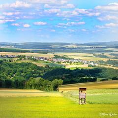 Oberwesel_Damscheid_s_IMG_0338-01_edited (swen.weber) Tags: rheinhunsrückkreis rheinhöhe niederburg landschaft rheinland rheinlandpfalz hunsrück vorderhunsrück damscheid himmel wolken wald wiese hochsitz natur horizont