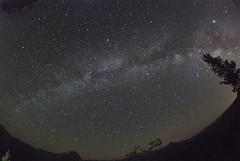 Fisheye on the Milky Way from Glacier Point (astrothad) Tags: stars space cosmos astronomy milkyway jupiter saturn vega deneb altair summertriangle halfdome glacierpoint lyra cygnus aquila wideangle fisheye yosemitenationalpark yosemite