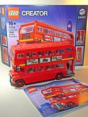 LEGO – Creator – 10258 – London Bus – Box, Bus & Instruction Manual (My Toy Museum) Tags: lego creator london bus son boredom buster gundam