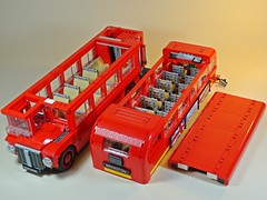 LEGO – Creator – 10258 – London Bus – Disassembled (My Toy Museum) Tags: lego creator london bus son boredom buster gundam