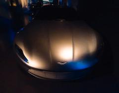 Aston Martin 4.7 Litre (Steve Taylor (Photography)) Tags: astonmartin 430bhp 47litre 8cylinders digitalart museum gold blue black uk gb england greatbritain unitedkingdom london shiny car automobile bondinmotionexhibition londonfilmmuseum