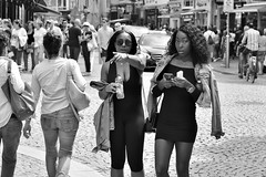 More interested in me (menno marrenga) Tags: amsterdam streetphotography streetphoto people zwartwit candid black white explore menschen street faces monochrome
