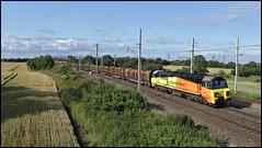 Golborne Junction, Colas 70814 6J37 (12.46 Carlisle N.Y - Chirk Kronospan) 13/07/19. (DigitAL46232) Tags: colas 70814 golbornejunction 6j37 logs golbornedale