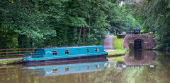 Moored at Lock 1 Marple 0095_ (Mike Thornton 15) Tags: canal peakforest marple water boat lock trees towpath