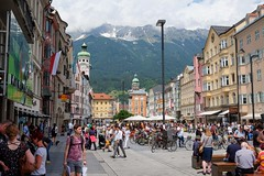 INNSBRUCK - CAPITAL OF TYROL (Maikel L.) Tags: europe europa austria österreich tirol tyrol innsbruck capital hauptstadt downtown city urban alpen alps alpine architektur architecture mariatheresienstr