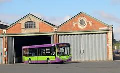 YX63 LGE, Ipswich Buses ADL Enviro 81, Constantine Road, 14th. July 2019. (Crewcastrian) Tags: ipswich buses ipswichbuses transport constantineroad busdepot dennis alexander enviro e200 yx63lge 81