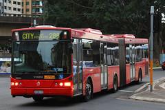 2132-ST, York Street, Sydney, September 20th 2016 (Southsea_Matt) Tags: 2132 2132st route285 volvo b12blea volgren cr228l yorkstreet sydney newsouthwales australia passengertravel publictransport bus omnibus vehicle canon 60d sigma 1850mm september 2016 spring metrobus bendybus