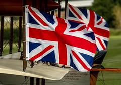 Union flag tri-plane.. (mickb6265) Tags: oldwarden shuttleworthcollection bedfordshire bedford militaryairshow2019 unionjackflags avrotriplane garsg replica