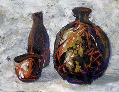 Things (ave2go80) Tags: art painting still life ceramics