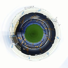 2019-07-14_01.02 - Tiny Planet, Chelsea FC, Stadium, Stamford Bridge, London () (Nomadic Mark) Tags: london stamfordbridge chelseafc stadium tinyplanet