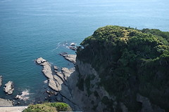 Cliff (Abhay Parvate) Tags: enoshima island cliff sea water blue green nature japan landscape rock